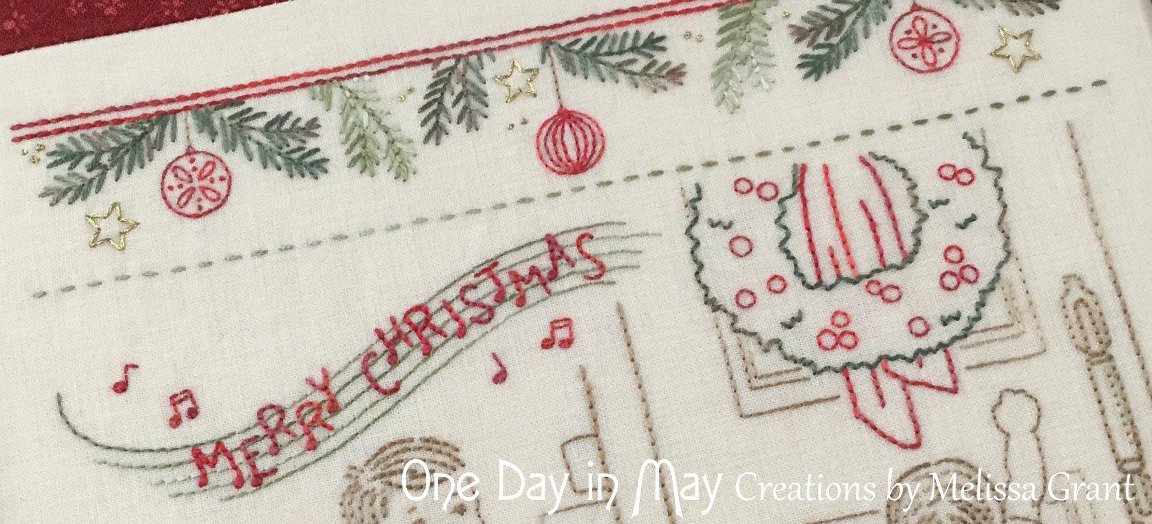 We wish you a... ~ Lyrics and Wreath Closeup