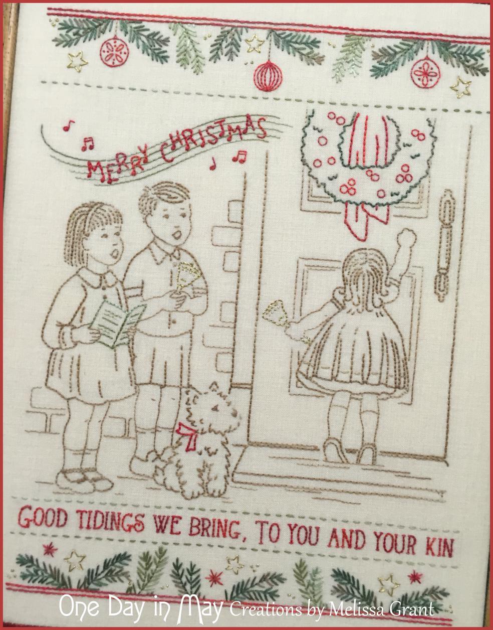 We wish you a... ~ Vintage Christmas Stitchery