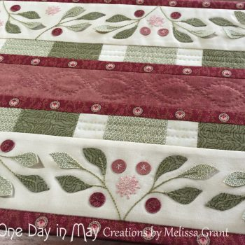 Lilly Pilly Table Runner - borders and hand quilting