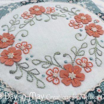 Petite Blooms - Needlebook closeup