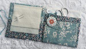 Petite Blooms - opened needlebook