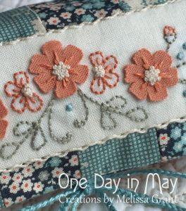 Petite Blooms - Needlework Roll Detail
