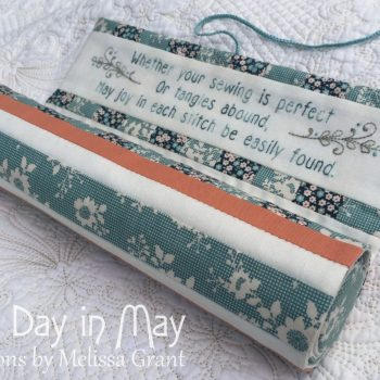 Petite Blooms - Needlework Roll partly unrolled