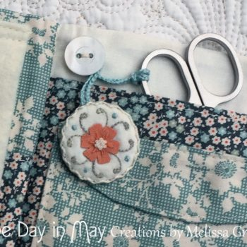 Petite Blooms - closeup of fob and pockets