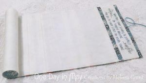 Petite Blooms - inside of needlework roll
