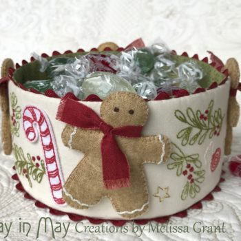 Sweet Treats - dimensional Christmas fabric bowl