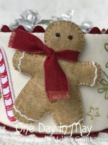 Sweet Treats - dimensional fabric gingerbread man