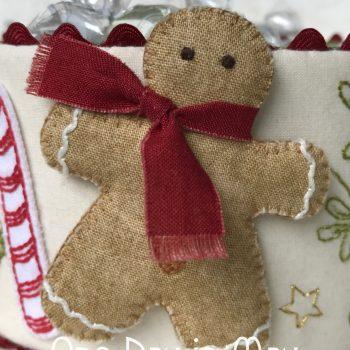 Sweet Treats - dimensional fabric gingerbread man