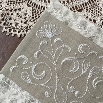 A Doily for Claire - embroidered detail