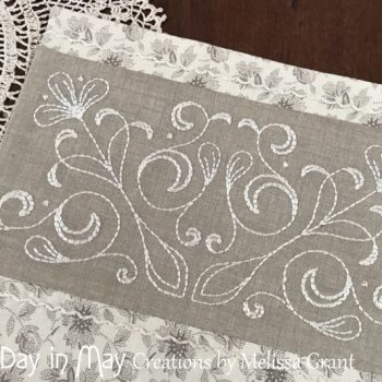 A Doily for Claire - embroidered panel