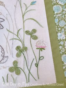 Down in the Meadow - clover detail