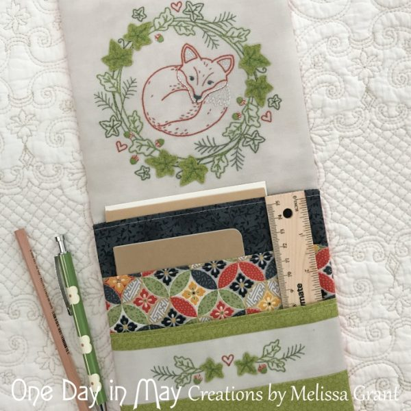 Resting Fox - Pocketed Organiser