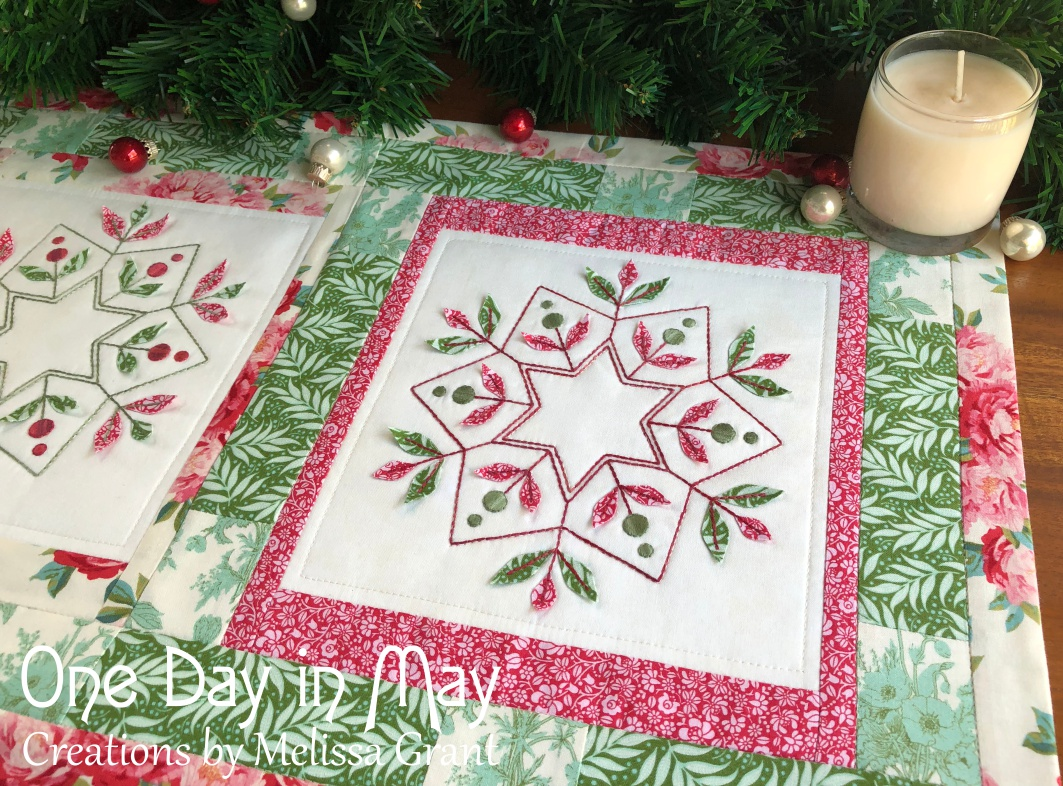 merry & bright ~ table runner close up