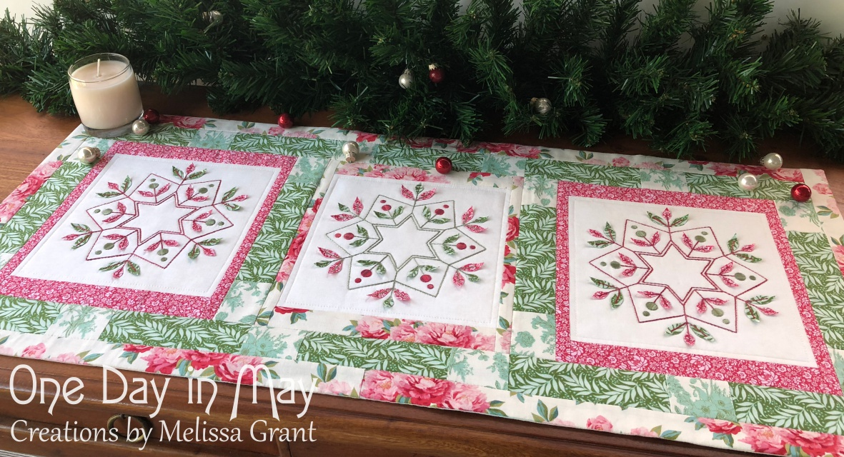 merry & bright ~ table runner