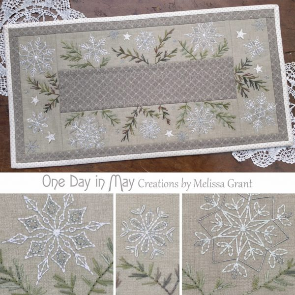 A Scattering of Snow - festive mat