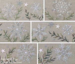 A Scattering of Snow ~ snowflake detail