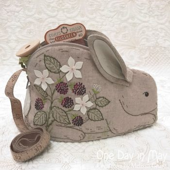 Bunny in the Blackberries ~ pouch