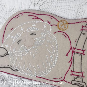 Sleepy Santa ~ face detail