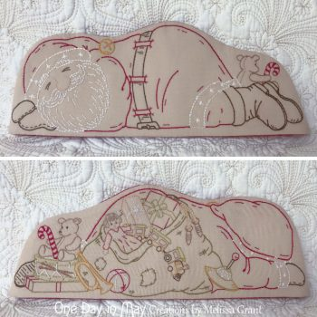 Sleepy Santa - front and back panels when flat