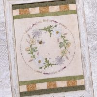 Gather me a Posy ~ a framed stitchery