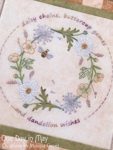 Gather me a Posy ~ embroidered wreath