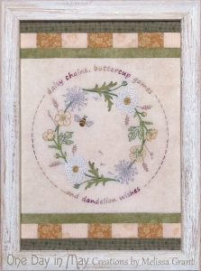Gather me a Posy ~ framed stitchery