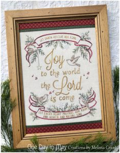 Joy to the World ~ Christmas stitchery ~