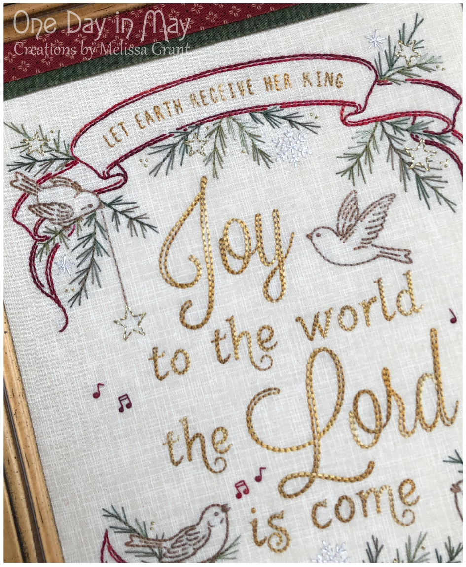 Joy to the World ~ Christmas stitchery ~ top